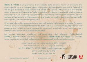 Body & Voice, la voce in movimento